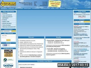 Zrzut strony Digital Revolution Poland Sp. z o.o. tonery do drukarek