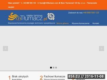 Zrzut strony Tłumaczenia rosyjski przysięgłe, techniczne i specjalistyczne