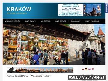 Zrzut strony Welcome 2 Kraków PL to romantyczne hotele, restauracje i pogoda