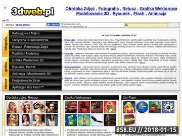 Zrzut strony 3dweb.pl - grafika, animacja, fotografia, strony www
