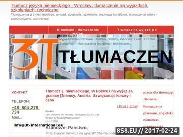 Zrzut strony Tłumaczenia - j. niemiecki, holenderski, angielski - Wrocław / biuro tłumaczeń