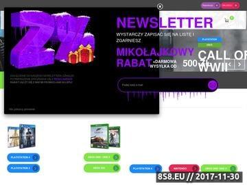 Zrzut strony Konsole Playstation4
