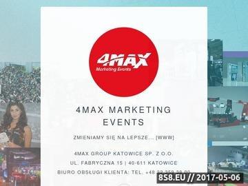 Zrzut strony 4MAX- organizacja imprez integracyjnych- tworzenie stoisk targowych