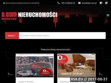 """Zrzut strony Biuro Nieruchomości """"A.COM"""" w Tarnowie"""