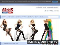 Miniaturka Strona hurtowni odzieży (www.ab-bis.pl)