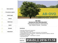 Miniaturka domeny www.ab-ovo.waw.pl