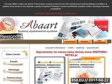 Zrzut strony Wszywki, Metki, Etykiety - ABAART