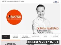 Miniaturka abakano.pl (Szkolenia biznesowe, coaching oraz mentoring)