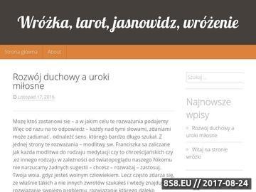 Zrzut strony Wróżka Kraków