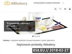 Miniaturka abbakery.pl (Akcesoria piekarnicze - sklep internetowy ABbakery)