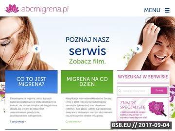 Zrzut strony Abcmigrena.pl