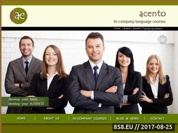 Zrzut strony Acento Espanol - kursy i szkolenia językowe dla firm - Hiszpański