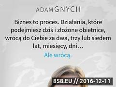 Miniaturka domeny www.adamgnych.pl