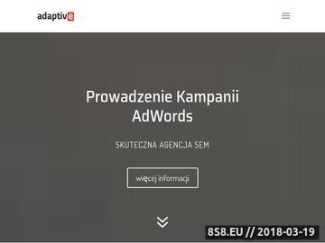 Zrzut strony Adaptive - Pozycjonowanie