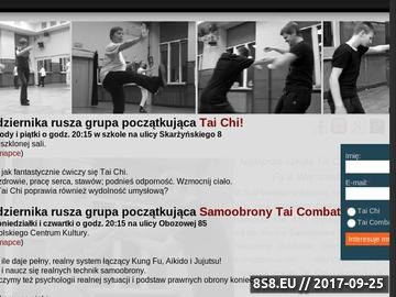 Zrzut strony Szkoła Tai Chi i skutecznej Samoobrony Tai Combat