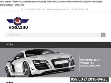 Zrzut strony Warsztat Warszawa, Auto Gaz Alfa Romeo