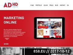 Miniaturka www.adhdinteractive.pl (Agencja interaktywna, e-marketing i reklama)