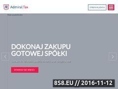 Miniaturka domeny www.admiraltax.pl
