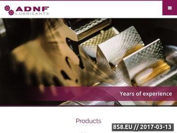 Zrzut strony ADNF - profesjonalne oleje i smary