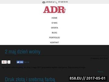 Zrzut strony ADR - druki online