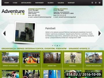 Zrzut strony Imprezy integracyjne - organizacja Adventure Quad
