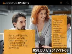 Miniaturka adwokaciranking.pl (Adwokaci Warszawa - opinie)