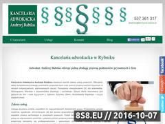 Miniaturka domeny www.adwokat-babilas.pl