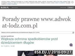Miniaturka Blog z poradami prawnymi w sprawach spadkowych (adwokat-lodz.bloog.pl)