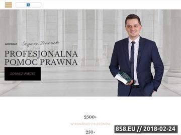 Zrzut strony Profesjonalna pomoc prawna