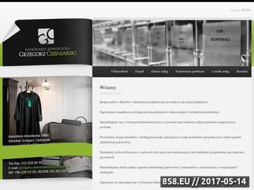 Zrzut strony Adwokat w Warszawie