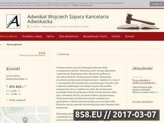 Miniaturka domeny adwokat-woj-szpara.firmy.net