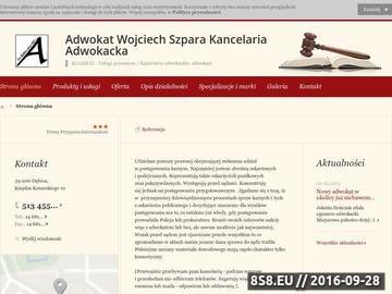 Zrzut strony Adwokat Wojciech Szpara Kancelaria Adwokacka Dębica
