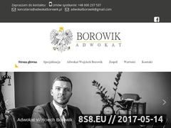 Miniaturka adwokatborowik.pl (Kancelaria Adwokacka Wojciech Borowik)