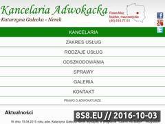 Miniaturka domeny adwokatgalecka.pl