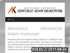 Miniaturka adwokatkrakowski.pl (Strona adwokata Adama Krakowskiego z Gdyni)