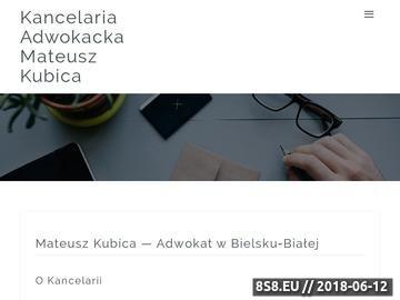 Zrzut strony Kancelaria Adwokacka Adwokat Mateusz Kubica