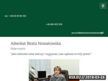 Zrzut strony Adwokat Gdańsk - Kancelaria Beaty Nowakowskiej