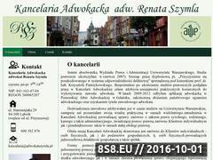 Miniaturka domeny www.adwokatszymla.pl