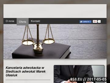 Zrzut strony Marek Ułasiuk - kancelaria prawna