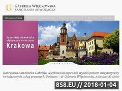 Miniaturka adwokatwieckowska.pl (Adwokat Kraków)