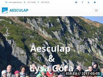 Zrzut strony Aesculap i Łysa Góra