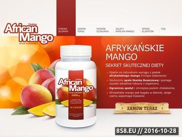 Zrzut strony Tabletki z afrykańskim mango