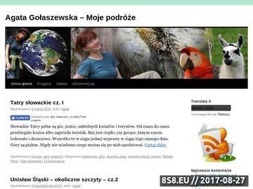 Zrzut strony Agata Gołaszewska - Moje podróże