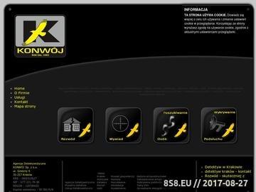 Zrzut strony Agencja Detektywistyczna Konwój - Kraków