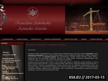 Zrzut strony Kancelaria adwokacka Poznań