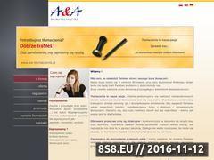 Miniaturka domeny www.aia-tlumaczenia.pl