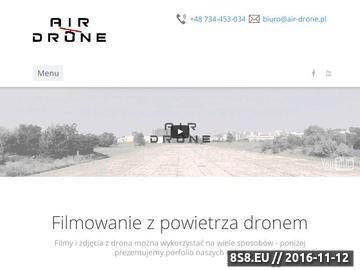 Zrzut strony AirDrone - filmowanie dronem