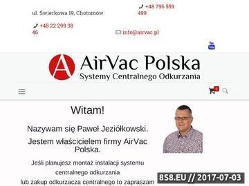 Zrzut strony Instalacja systemów centralnego odkurzania