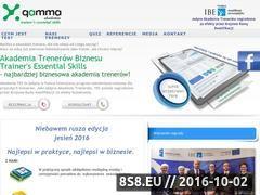 Miniaturka www.akademia-trenerow.projektgamma.pl (Prowadzenie szkoleń)