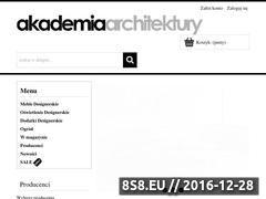 Miniaturka domeny www.akademiaarchitektury.pl